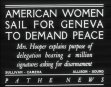 American Women Sail For Geneva To Demand Peace Aka American Women Leave