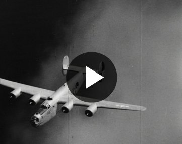B24 Bomber Shot Down