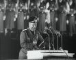 (Mussolini Close Ups  And Speech In German)