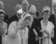 QUEEN JULIANA LAUNCHES SHIP NAMED AFTER HER MOTHER