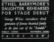 Ethel Barrymore's Daughter Rehearses For Stage Debut