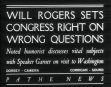 Will Rogers Sets Congress Right On Wrong Questions