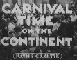Carnival Time On The Continent On Sleeve As Time On The Continent
