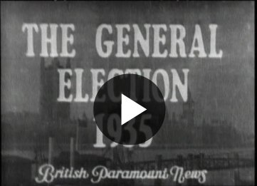 Election Results For MPs (1935 Newsreel)