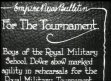 DEFENCE: Boys of the RAF prepare for the Royal tournament,