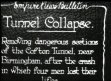 Tunnel collapse: Dangerous section of the Cofton tunnel near Birmingham...