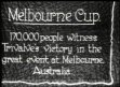 AUSTRALIA / HORSE RACING: Trivalve wins the 1927 Melbourne Cup