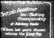 U.K. ICE SKATING: British Amateur Ice-Skating Championship
