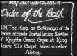 ROYAL: Order of the Bath, King George V attends installation service of Knights...