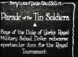 DEFENCE :'Tin Soldiers' routine by boys from Royal Military school
