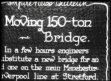 UK: England: Moving 150 ton Bridge at Stretford