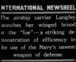 Demonstration of US Navy's aircraft carrier Langley