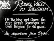 ROYAL: King George V visit to Belgium