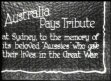 AUSTRALIA: Dead of First World war remembered
